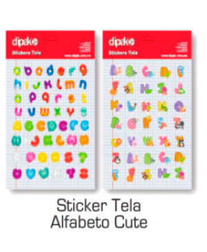 Stickers de tela Alfabeto Cute