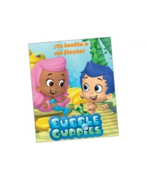 Invitación Bubble Guppies
