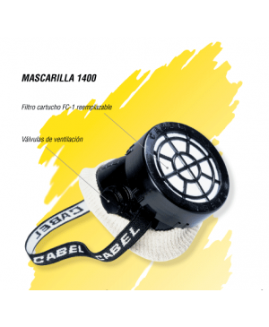Mascarilla Gas 1400 CABEL