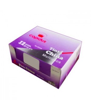 Tinta china Copidux roja con 12 piezas 15 ml.