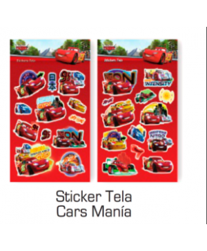 Stickers de tela Cars Mania