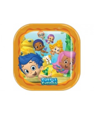 Plato Grande Cuadrado Bubble Guppies