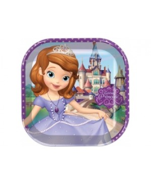 Plato Grande Cuadrado Sofia The First